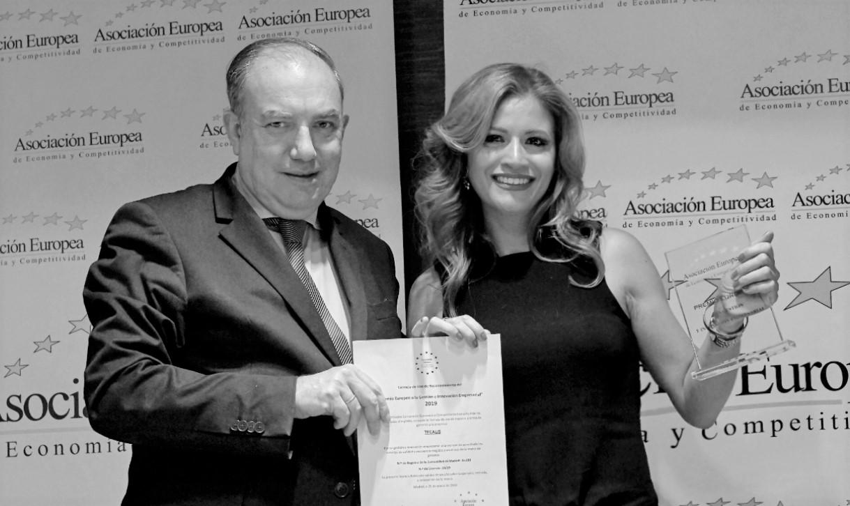 Berta Caro de Tecalis recibe el Premio Europeo a la Gestión Empresarial