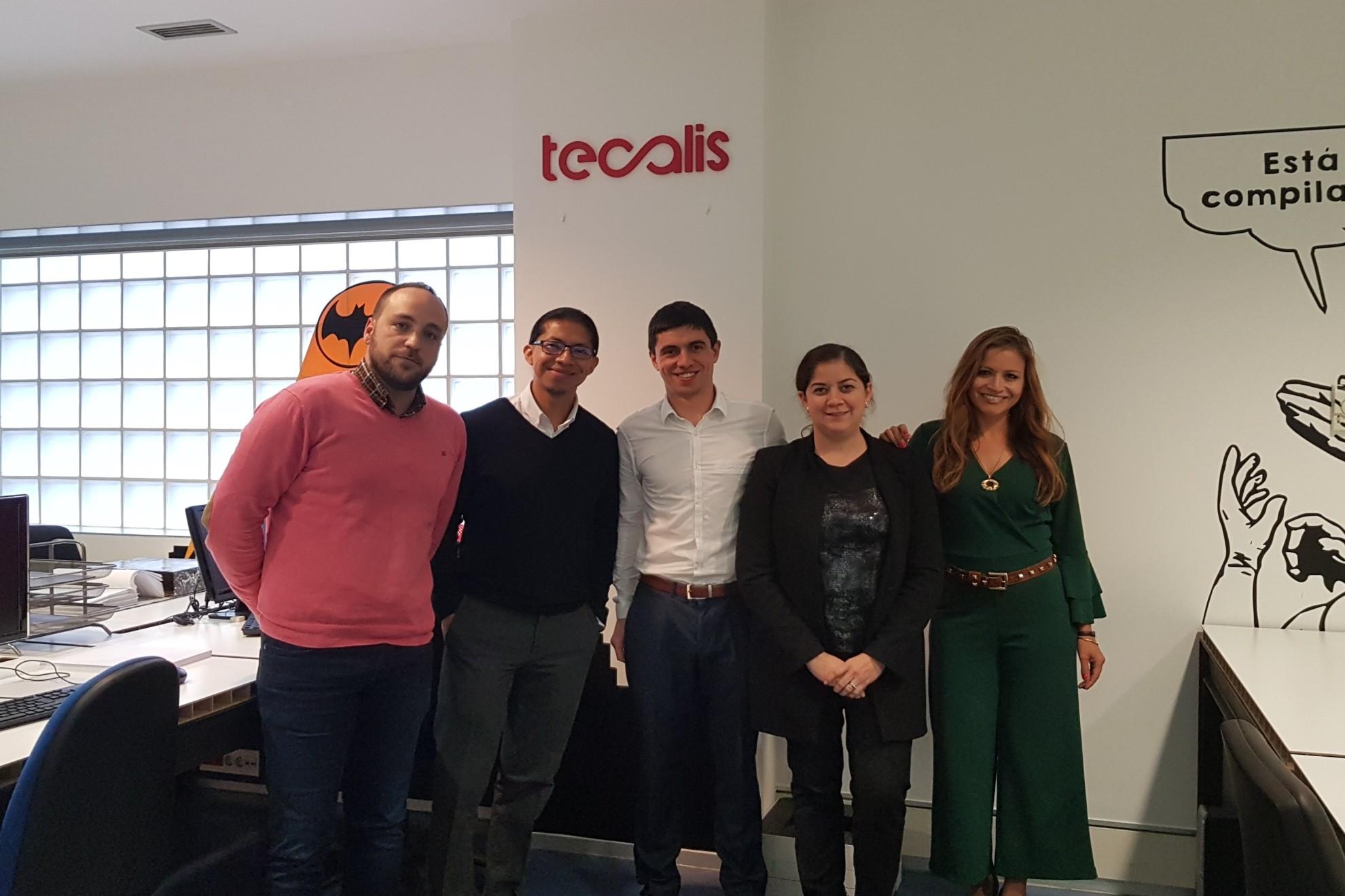 Comitiva ecuatoriana en Tecalis